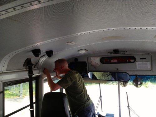 School Bus Bullying onboard video recorder surveillance camera system 3 cam system